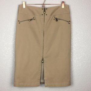 Nine West Stretch Pencil Zip Skirt 8